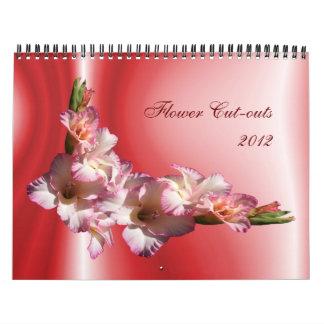 Flower Cut-outs 2012 Calendar