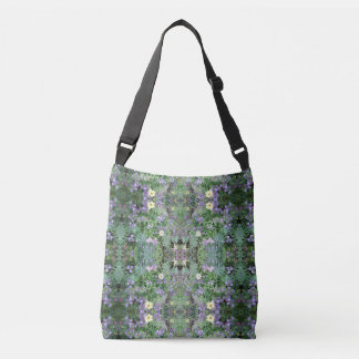 Flower Dapple Fractals Cross Body Tote Bag