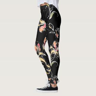 Flower Decor 10A Leggings