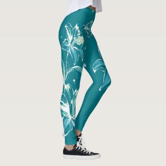 Flower Decor 9A Leggings