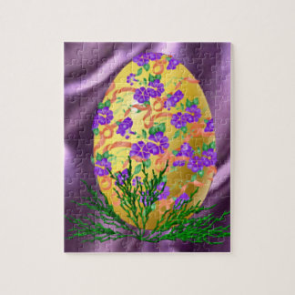 Flower Decorated Egg Jigsaw Puzzle