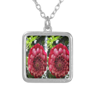 FLOWER Decorations : Red n Rose Couple Silver Plated Necklace