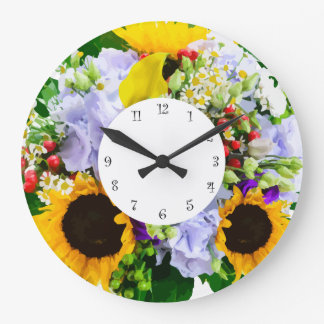 Flower Design Kitchen Clocks
