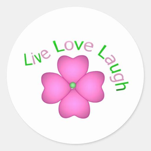 Flower Design - Live Love Laugh Stickers