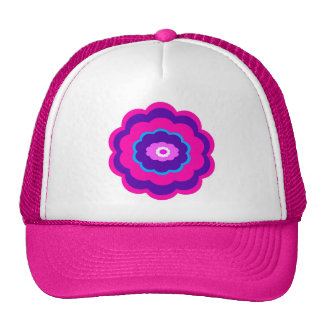 Flower Design Trucker Hat