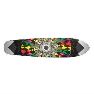 Flower Digital Doodle Skate Board