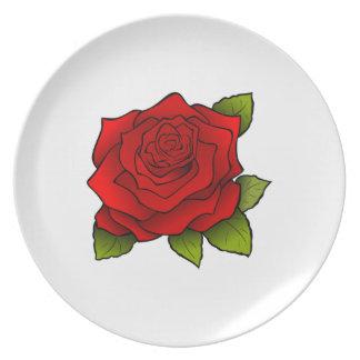 flower dinner plates