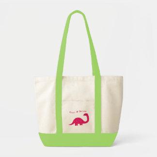 Flower Dinosaur Accent Bag