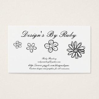 Flower Doodle Business Card