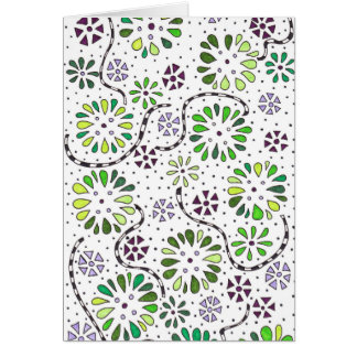 Flower doodle note card
