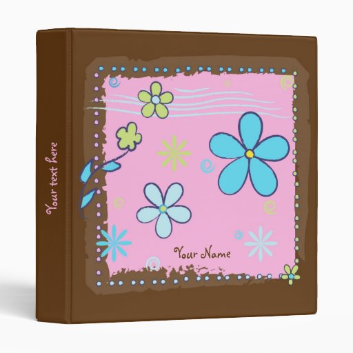 Flower Doodles Vinyl Binder