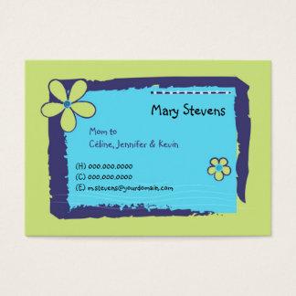 Flower Doodles Business Card