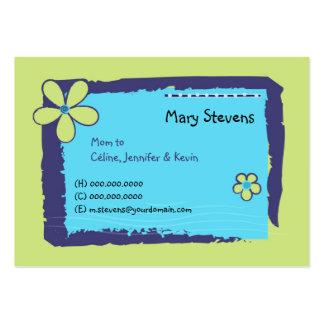 Flower Doodles Business Card Templates