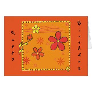 Flower Doodles Greeting Card