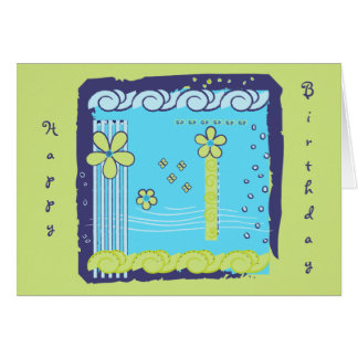 Flower Doodles Greeting Card