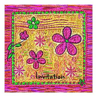 Flower Doodles Custom Invites