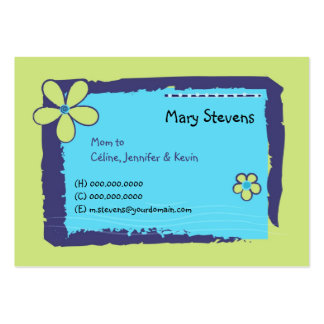 Flower Doodles Pack Of Chubby Business Cards