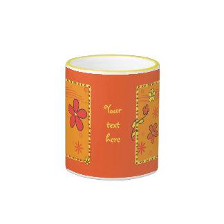 Flower Doodles Ringer Mug