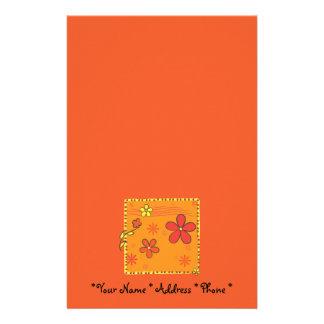 Flower Doodles Customized Stationery