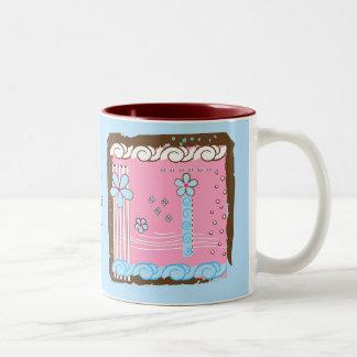 Flower Doodles Two-Tone Coffee Mug