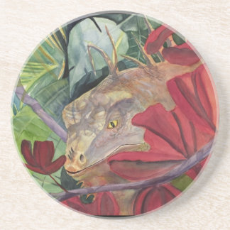Flower Dragon Iguana Coaster