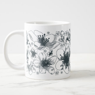 Flower drawing on jumbo mug