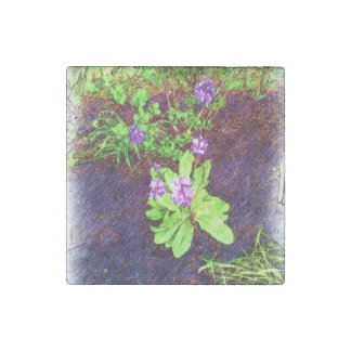 Flower Drawing photo Stone Magnet