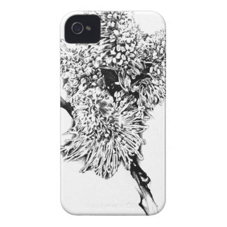 Flower drawing sketch art handmade iPhone 4 Case-Mate cases