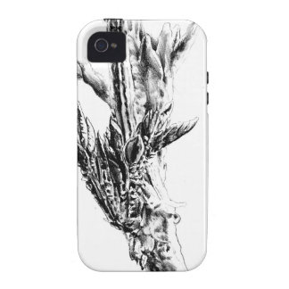 Flower drawing sketch art handmade iPhone 4/4S cover