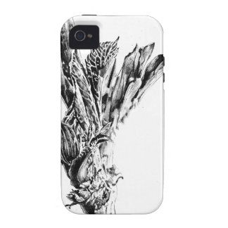 Flower drawing sketch art handmade Case-Mate iPhone 4 cover