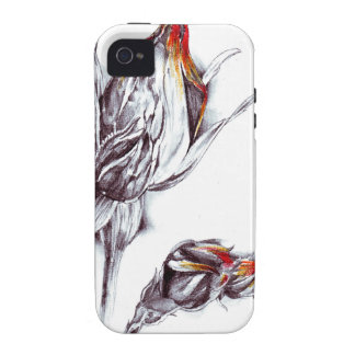 Flower drawing sketch art handmade vibe iPhone 4 cover