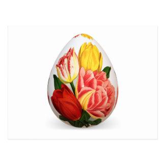 Flower easter egg postcard