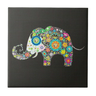 Flower Elephant - Diamond Studs Tile