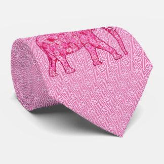 Flower elephant - fuchsia pink tie