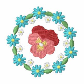 Flower Embroidered Women's T-Shirt