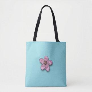 flower emoji tote bag