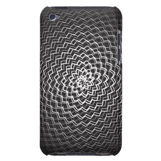 Flower Energy Pattern black white Case-Mate iPod Touch Case