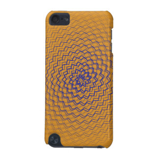 Flower Energy Pattern Orange iPod Touch (5th Generation) Cases