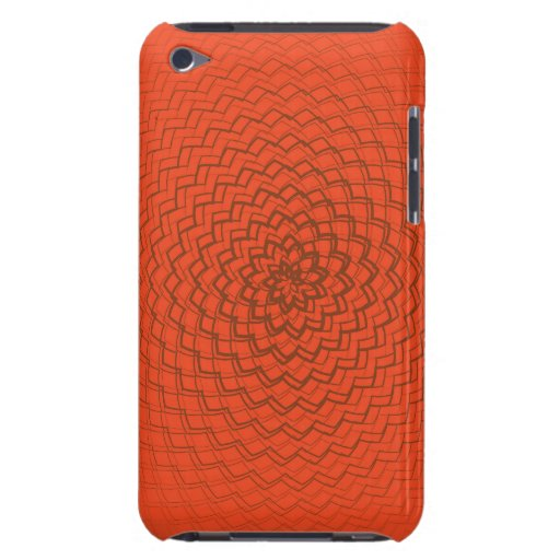 Flower Energy Pattern Oranges Barely There iPod Covers
