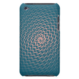 Flower Energy Pattern Pink Blue iPod Touch Case-Mate Case