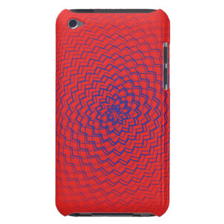 Flower Energy Pattern Purple Red Barely There iPod Cases