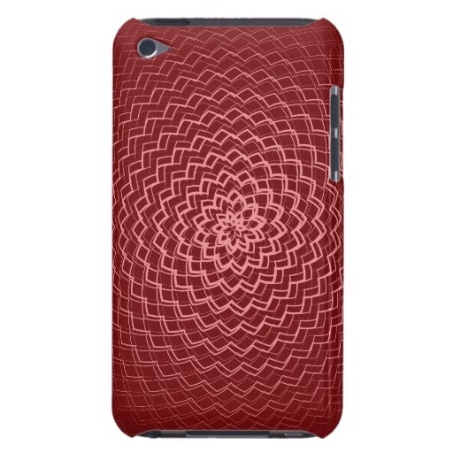 Flower Energy Pattern Reds Barely There iPod Case