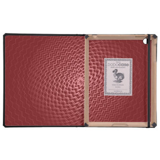Flower Energy Pattern Reds iPad Cover