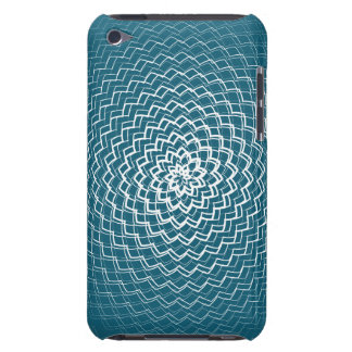 Flower Energy Pattern White blue iPod Touch Case-Mate Case