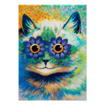 Flower Eyes Cat, Louis Wain Poster