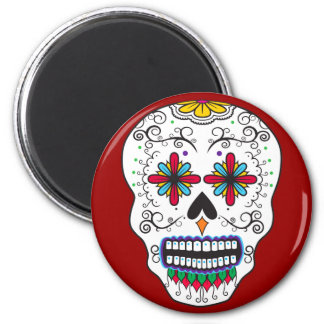 Flower Eyes Sugar Skull Magnet