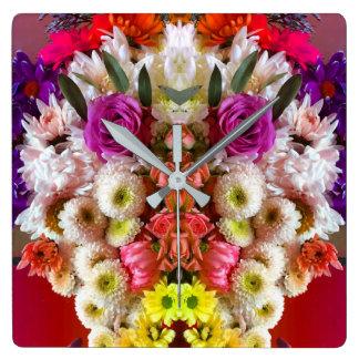 Flower face clock