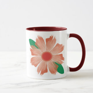 Flower Fades Scripture mug - Red flower and trim