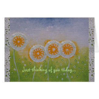 Flower Fades Thinking of You Card