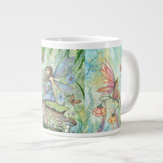 Flower Fairies Fantasy Art Jumbo Mug